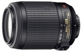 Nikon 55-200mm f/4-5.6G ED IF AF-S DX VR Zoom Nikkor Lens