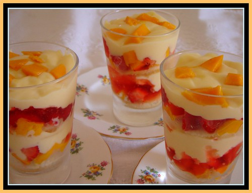 Delicious Mango and Strawberry Trifle