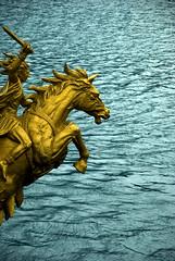Seahorse (enggul) Tags: sea horse statue gold seahorse battle warrior hakone d80 teampilipinas larawangpinoy