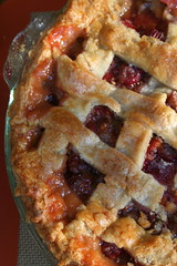 Sour Cherry-Rhubarb Pie