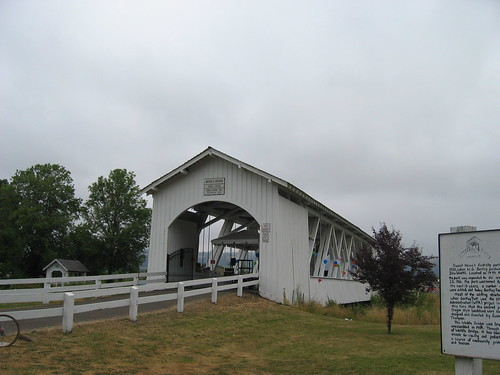 Ames Covered Bridge at the start