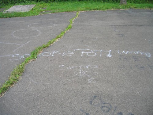 Smoke Pot! Graffiti at the old Nike Base