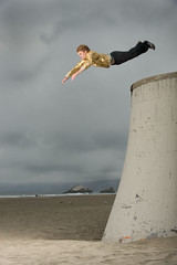 superman v1 (Mark Madeo) Tags: sanfrancisco faith superman seawall oceanbeach leap parkour nosole sfpk brianorosco