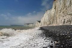 Tide and cliffs (Photo Paul) Tags: uk sea england beach sussex coast chalk surf waves britain shoreline pebbles cliffs shore gb sevensisters eastsussex picnik birlinggap