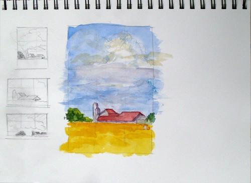 Barn & Sky