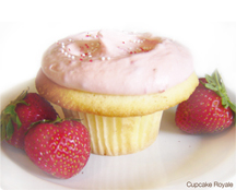 Cupcake Royale's flavor of the month: Skagit Valley Strawberry Cupcake