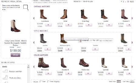 Like.com visua search