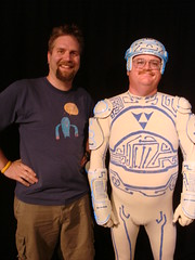 Fuzzy and the Tron Guy