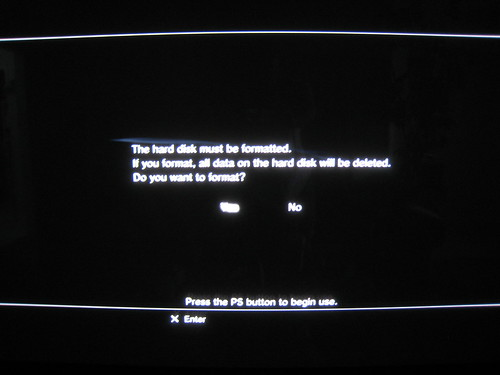 how to install ps3 software on new hard drive