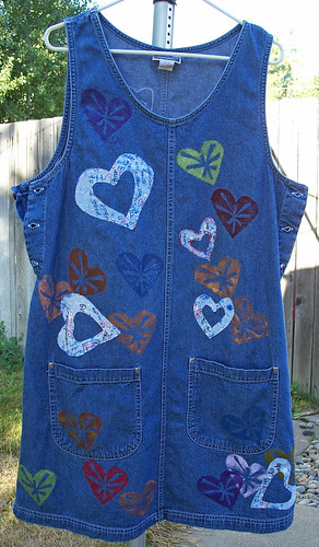 Front of denim jumper, 8/14/08