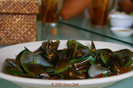 kerang hijau masak saus tiram