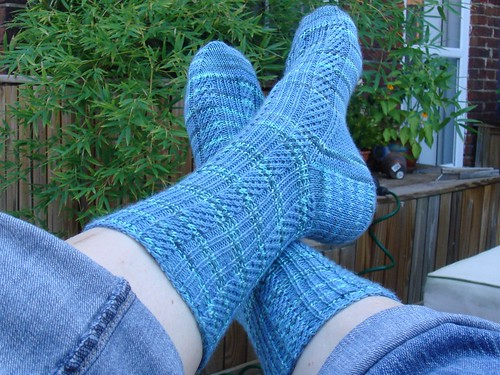 Diagonal Rib Socks