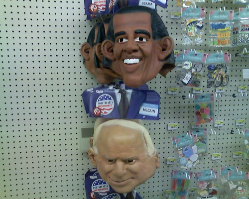 Obama and McCain Masks at Jo-Ann Fabrics
