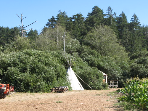 Teepee at Blue House Farm