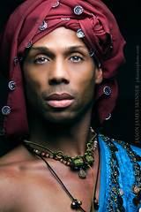Bernard H. Gaddis (skinr) Tags: portrait beauty beads dancer headshot turban ethnic performer lowkey necklaces studiolighting intenseeyes greyeyes choreographer maledancer butterflylighting canon70200mmf28lisusm canoneos40d wwwjskinnerphotocom jasonjamesskinner bernardgaddis thelasvegascontemporarydancetheater lvcdt bernardhgaddis