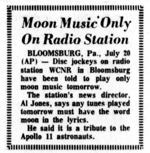 Pittsburgh Gazette-Post Moon Landing Story