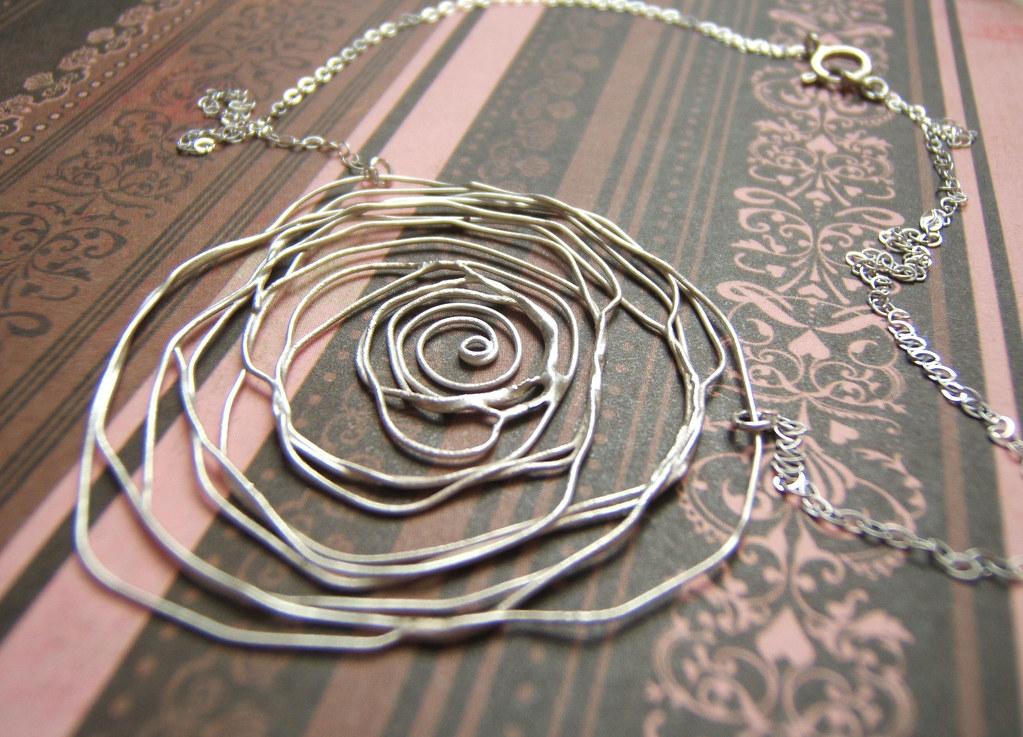 minervaorduno — Rose Lace Pendant :  minerva orduno modern jewelry womens jewelry femine