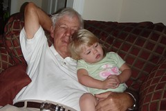 Pop-Pop and Cate having some snuggle time