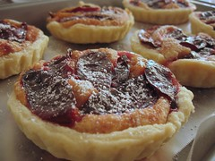 Plum Almond Tartlets