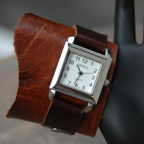 Chocolate Brown Cuff Watch