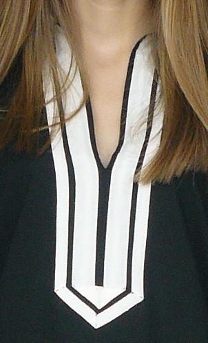 Guru designer tunic in black cotton, long sleeved