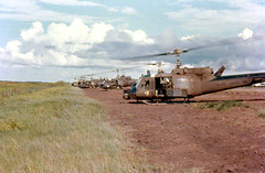 """The Hog"" waiting for orders. (Nigel Smuckatelli) Tags: vietnam huey gunship vietnamwar uh1b"