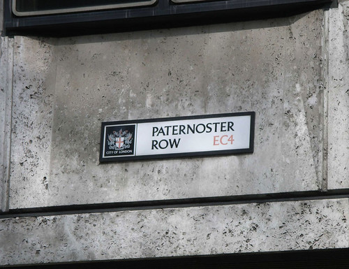 Paternoster Row street sign, London