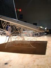 Acrylic laptop stand w/gears