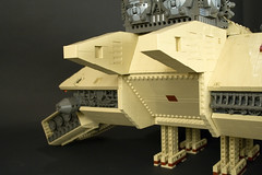 Eb'Cafl53 (Happy Weasel) Tags: lego space alien tan scifi spaceship csf greebs greeble ebcafl e8caf1