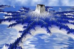 Blue Mandelbrot Island