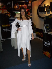 Intel booth babe (Linsesmeister) Tags: mxico female mexico photography model uniform expo babe gaming intel convention videogame brunette electronicgameshow egs boothbabe egs2008 electronicgameshow2008