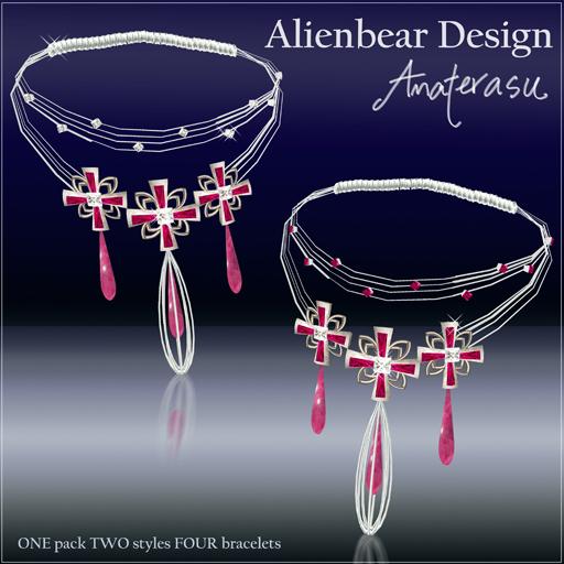 Princess Amaterasu bracelets hotpink