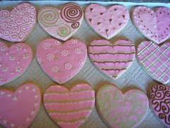 Fancy Heart Cookies