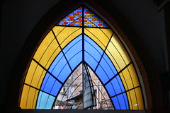 Stained Glass Windows (shaire productions) Tags: life street city travel sea people urban color building church water glass rock stone architecture buildings mexico coast living town seaside rocks colorful riviera country decoration culture stained cobble mexican coastal environment metropolis puertovallarta activity decor ethnic cultural
