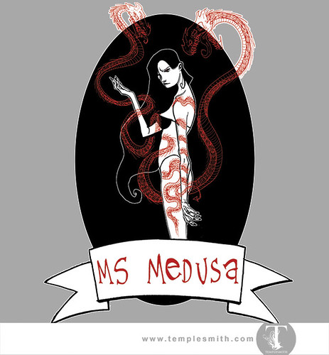 Wormwood Pint Glasses: Ms Medusa