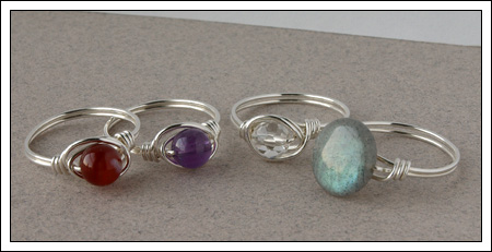 Gemstone & silver rings