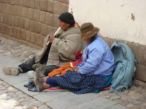 Street musician. Cusco, Peru.