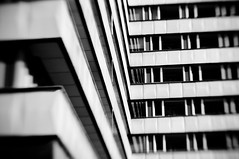 [EXPLORE] (bynini [slightly away]) Tags: city windows urban bw white house black building lensbaby germany blackwhite focus weekend fenster perspective haus nikond70s stadt friday gebude perspektive variable chemnitz fokus focussing