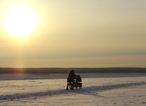 cycling through  Siberia in winter