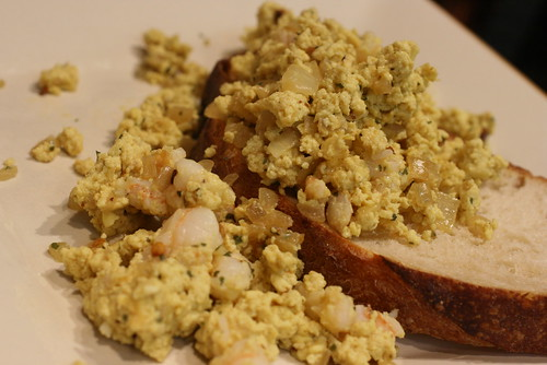 Curry Shrimp Scrambled Eggs