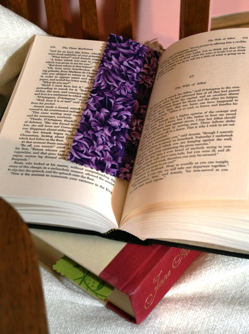 fabric bookmarks!