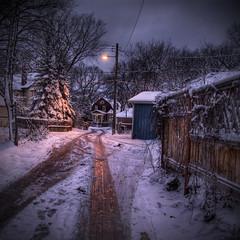 Another Wolseley Winter (bryanscott) Tags: winter winnipeg manitoba lane hdr wolseley photomatix