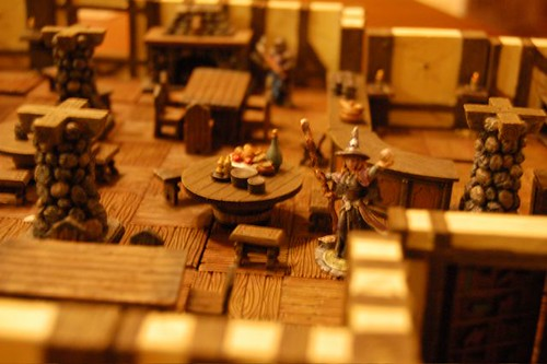 Dwarven Forge with miniature