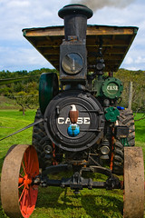 CA186 Case Steam Traction Engine (listentoreason) Tags: usa tractor industry america canon newjersey unitedstates engineering places case steam transportation agriculture ef28135mmf3556isusm score40 howellfarm howelllivinghistoryfarm casesteamtractionengine