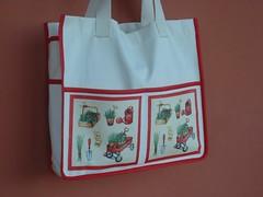 Sacola para compras (Costuras da Doris) Tags: bag handmade sewing shoppingbag decoupage costura ecobag sacola 100algodão sacolaparacompras sacolaecológica
