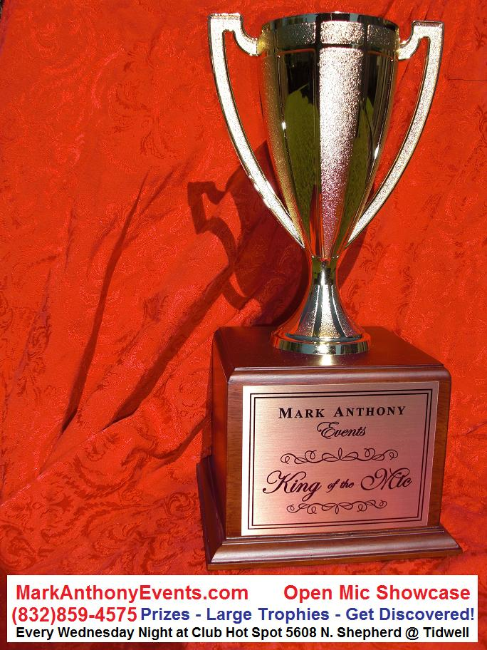 Trophy Markanthony Events Open Mic Showcase