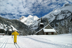 Kandersteg (Les Rho@des) Tags: snow ski mountains switzerland skiing swiss kandersteg crosscountryskiing langlauf