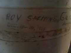 Graffiti in the historical jail in Chase County, Kansas