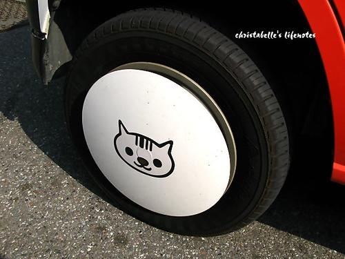 open小將條碼貓車輪胎蓋
