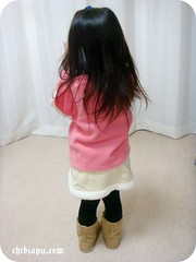 レモールのフェイクムートン子供用ブーツ4